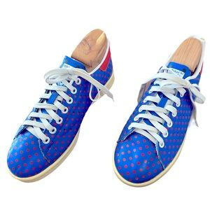 Stan Smith Vintage Blue & Red Polka Dot Sneakers